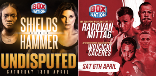 New shows and live fights added to BoxNation for April.
