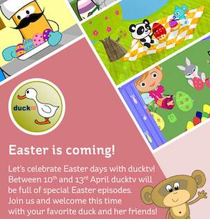 Easter is coming! - Between 10th and 13rd April on ducktv